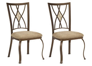 Brookside 2 Pc. Diamond Dining Chair Set