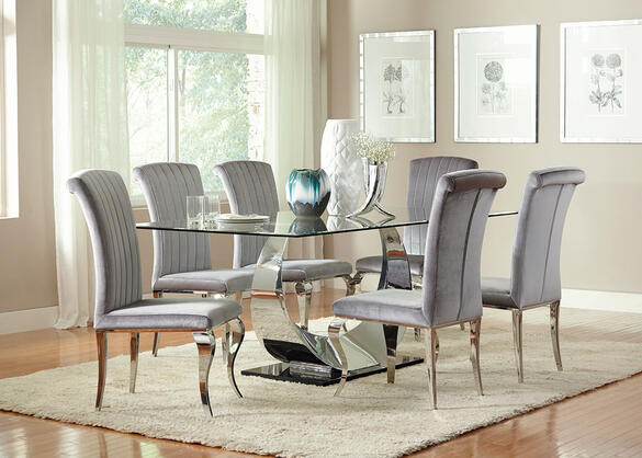 Manessier 7 Pc. Dining Room Gray
