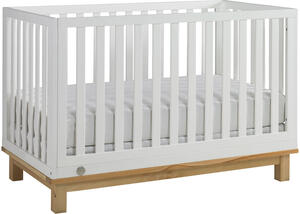 Riley Snow White/Natural Convertible Crib by Fisher Price