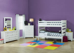 Catalina White 4 Pc. Twin Bunk Bedroom