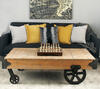 Baldwin Coffee Table Cart Brown