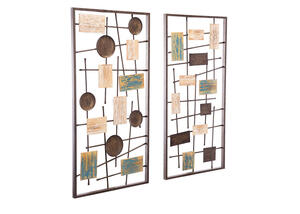 Abstract 2 Pc. Wall Decor Brown