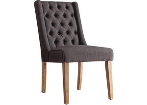 Richland Charcoal Linen Tufted Chair