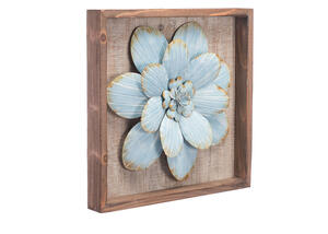 Star Succulent Wall Decor Blue