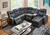 Tesla 6pc Laf Pwr Leather Sectional