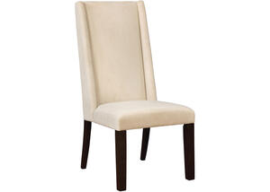 Demi Wing Back Beige Dining Chair by Scott Living