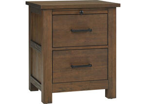 Lucca Weathered Brown Nightstand by Dolce Babi