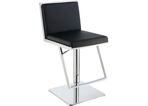 Dixon Black Adjustable Bar Stool by Scott Living