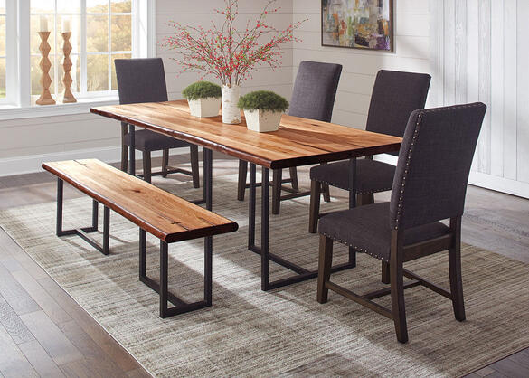 Suthers 6 Pc. Dining Room w/Gray Tucson Chairs by Scott Living