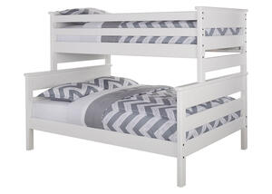 CATALINA TWIN/FULL BUNK BED WHITE WHITE