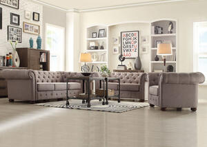 Barrington Gray Linen 3 Pc. Living Room