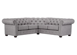 Barrington Gray Velvet 5-Seat Sectional