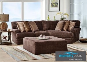 Denali Chocolate 2 Pc Sectional W Cuddler Chaise