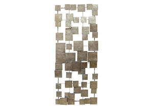 Geometric Tiles Wall Decor Champagne