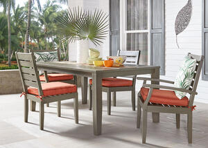 Newport Gray 5 Pc. Dinette w/Cushions