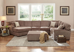 Easton Gray 3 Pc. Sectional w/Cuddler Chaise (Reverse)