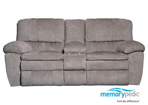 Power Loveseat Gray Luke