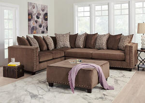 Bristol Brown 2 Pc. Sectional (Reverse)