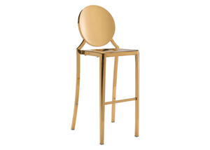 Eclipse Bar Chair Gold Yellow/gold