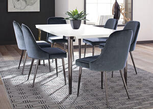 Riverbank Blue 7 Pc. Dinette by Scott Living