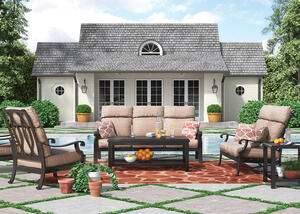 Grand River 3 Pc. Patio Set Brown