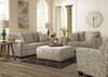 Arthur Quartz 3 Pc. Living Room w/Script Accent Chair