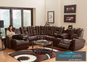 Matrix Brown 7 Pc. Sectional (Reverse)