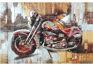 Motorcycle City Wall Decor Multi