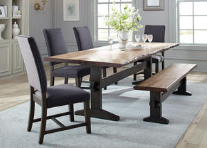 Tucson 6 Pc. Dinette w/Gray Parsons Chairs