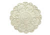Shabby Medallion Wall Decor White