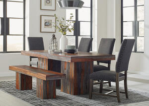 Binghamton 6 Pc. Dining Room w/Tucson Gray Chairs by Scott Living