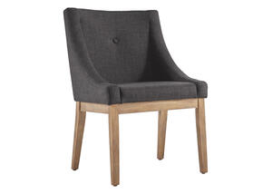 Dark Gray Linen Arm Chair Gray