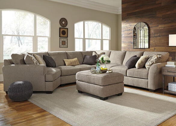 Savoy 5pc Raf Sectional W/cuddler Gray