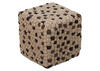 Hand Crafted Balled Pouf White