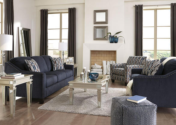 Klein 3pc Living Room Blue The Roomplace
