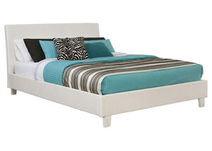 MONTROSE QUEEN BED WHITE WHITE