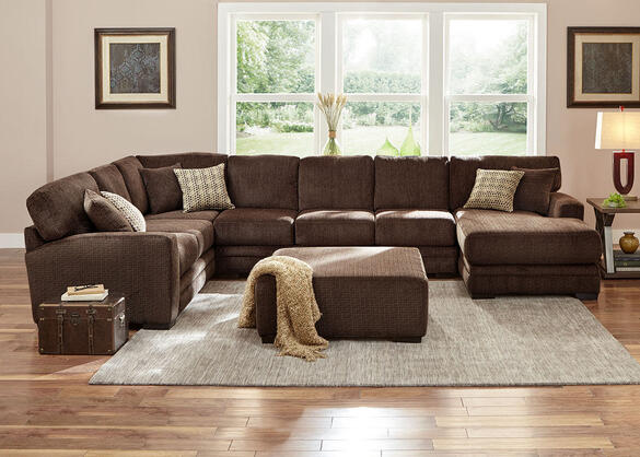 Easton Chocolate 3 Pc. Sectional