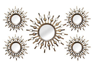 Burst 5 Pc. Wall Mirrors Bronze