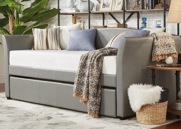 Donovan Gray 3 Pc Daybed With Trundle The Roomplace