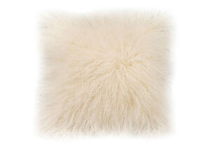 Lamb Fur White Square Pillow