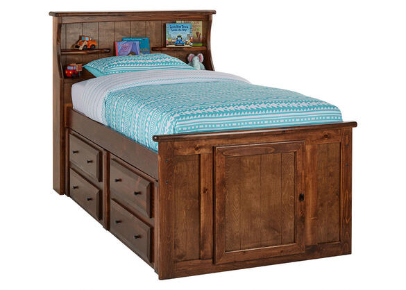 CATALINA TWIN CH BCKS STRG BED CHESTNUT