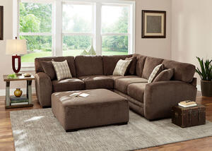Easton 3pc Sectional Easton Chocolate