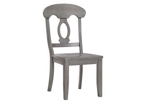 Gray Napoleon Back Side Chair Gray