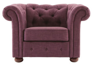 Barrington Purple Linen Chair