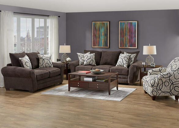 Peyton 3 Pc Slpr W Accent Chair The Roomplace