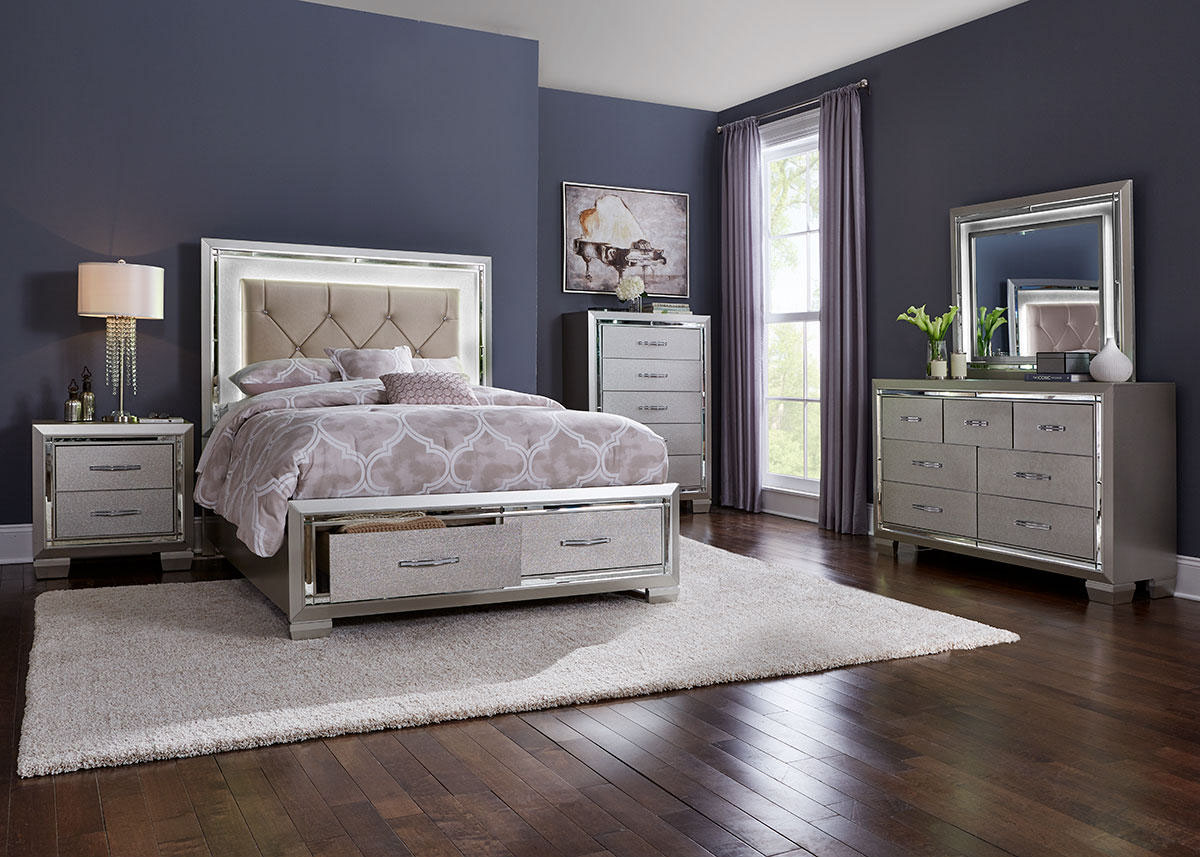 Bari 8 Piece King Bedroom - The RoomPlace