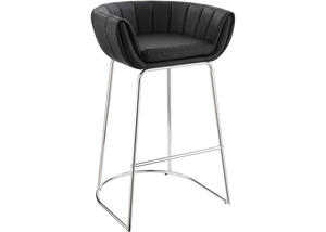 Dixon Black Low-Back Bar Stool by Scott Living