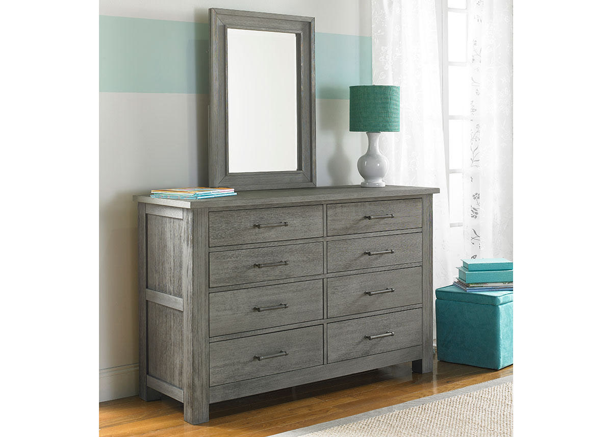 weathered gray dresser vintage fisher price lucca weathered gray dresser by dolce babi the roomplace