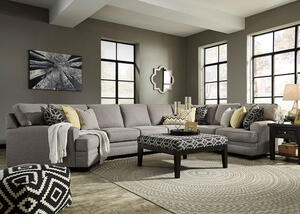 Claudine 4 Pc. Sectional w/Armless Sofa & Cuddler Chaise (Reverse)