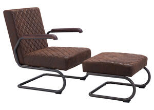 Father Lounge Chair Brown Brown